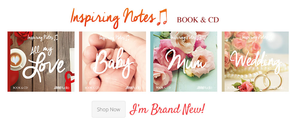 inspiring notes book and cd gift set