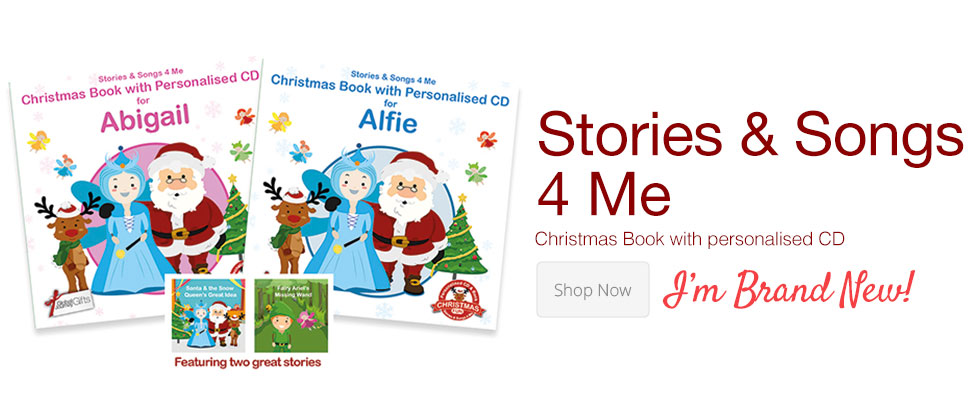 stories & songs 4 Me - Christmas Book with Personalised CD