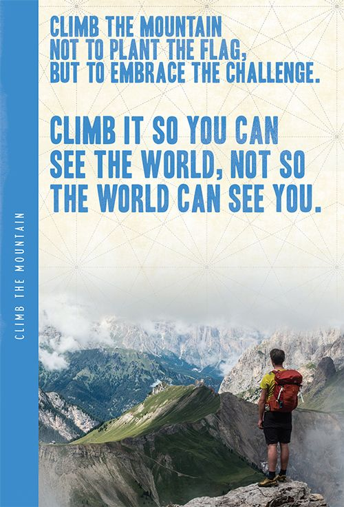 Climb The Mountain XL Notebook