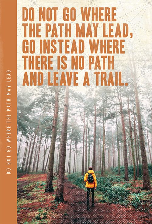 Do Not Go Where The Path XL Notebook