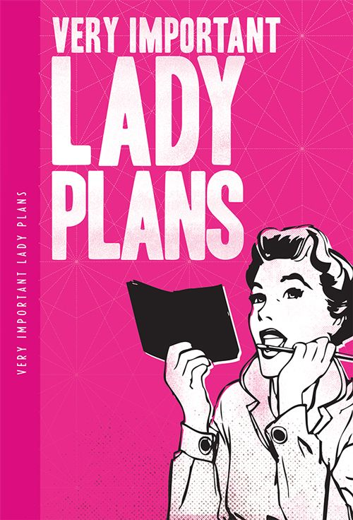 Very Important Lady Plans XL Notebook